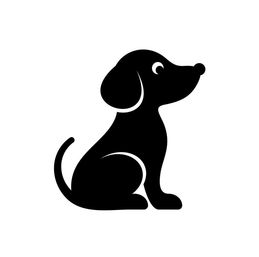 cute-black-dog-icon-vector-13499587